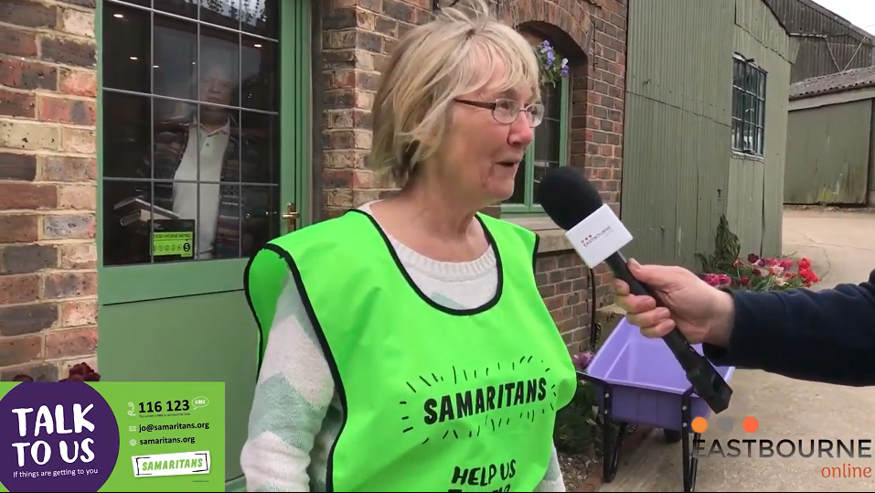 Samaritans fundraising - reporter Chris Dabbs